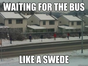 Swedes at the Bus